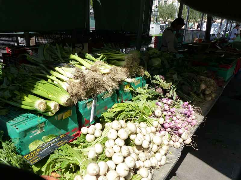 Spring produce at the Liberation Market.